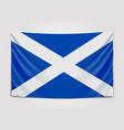 hanging flag scotland scotland national flag vector image