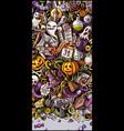 happy halloween doodle vector image vector image