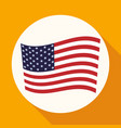 icon america flag on white circle with a long vector image vector image