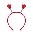 isolated headband icon with heart shape ears vector image