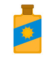 isolated sunscreen bottle icon vector image vector image