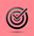 Isolated target icon symbol over red vector image