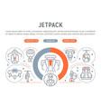 linear banner jetpack vector image