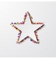 modern star with confetti on white vector image