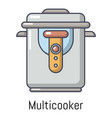 multi cooker icon cartoon style vector image