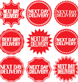 Next day delivery signs set Next day delivery vector image vector image