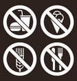 no food and drink no ice cream gluten free vector image vector image