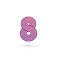 Number 8 logo icon design template elements vector image vector image