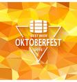 Oktoberfest triangle label vector image