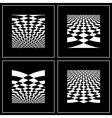 OP ART BACKGROUND SET vector image vector image
