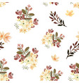 pattern seamless floral lush watercolour style vector image vector image