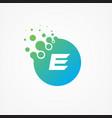 pixel symbol letter e design minimalist vector image vector image