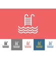 Pool icon isolated Waves Summer or Stairs vector image