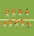 professional american football team players vector image