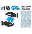 Realty Insurance Icon with 1000 Medical Business vector image vector image