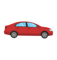 red car flat design style vector image vector image