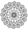 rosette style mandala flower vector image