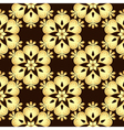 Seamless brown vintage pattern vector image vector image