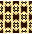 Seamless brown vintage pattern vector image vector image