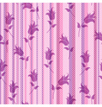 Seamless floral striped pattern vector image vector image