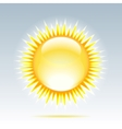 shiny sun in the sky vector image vector image