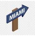 sign arrow miami isometric icon vector image vector image