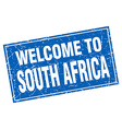 South Africa blue square grunge welcome to stamp vector image vector image