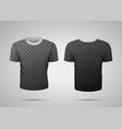 sport t-shirt with shadows on transparent vector image