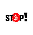 stop access ban poster vector image vector image