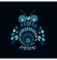Stylized owl mosaic style vector image