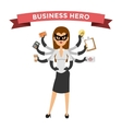 Superhero business woman vector image vector image