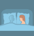 the man is alone in bed separation from darling vector image