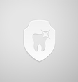 Tooth icon in the form of a shield vector image vector image