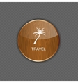 Travel application icons vector image