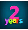 Two years paper sign vector image vector image