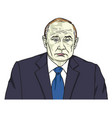 vladimir putin the president of russia cartoon vector image vector image