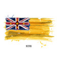 watercolor painting flag of niue vector image vector image