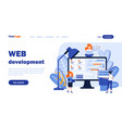 web development landing page template vector image vector image