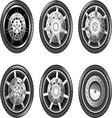 Wheels vector image vector image