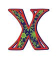 winter letter X vector image