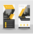 yellow black business roll up banner flat design vector image vector image