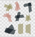 scotch adhesive tape pieces isolated on vector image