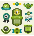 Sports ribbons labels and badges with soccer vector image