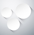 Round paper labels vector image
