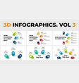 3d perspective infographics pack vector image vector image