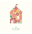 abstract decorative circles house silhouette vector image vector image