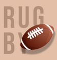 abstract rugby ball isolated on sand vector image