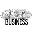 are business buyer notes profitable text word vector image vector image