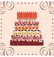 Birthday cake fifty years vector image vector image