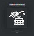 boat fuel icon vector image vector image